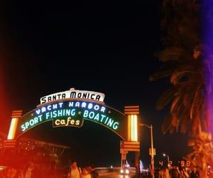 beach, pier, and fun image
