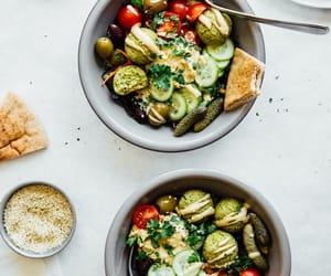 falafel, salad, and نباتي image