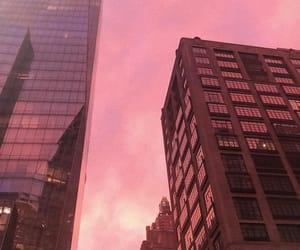 sunset and pink sunset image