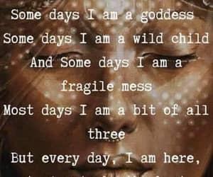 goddess, diosa, and wild child image