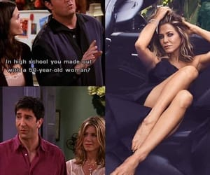 chandler bing, David Schwimmer, and humour image