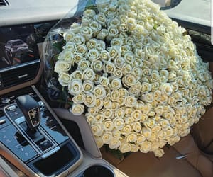 car, roses, and classy image