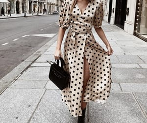 dots, dress, and streetstyle image