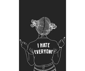 wallpaper, girl, and hate image