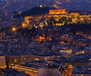 Athens, Greece, and night image
