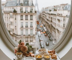 breakfast, paris, and travel image