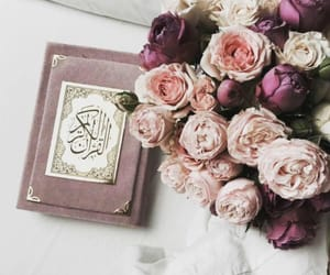 bouqet, quran, and love image
