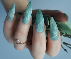 nails, style, and blue image