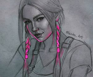 art, hair, and pen image