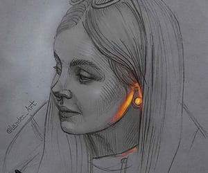 art, pen, and beauty image