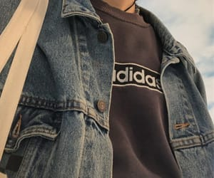 adidas, denim, and grunge image