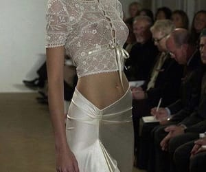 fashion, silk, and model image