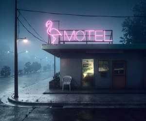 aesthetics, motel, and night image