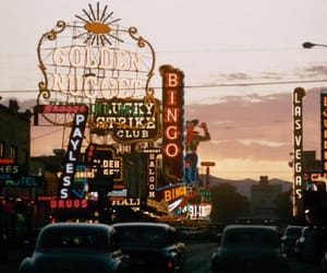Las Vegas and vintage image
