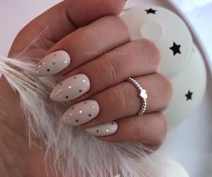 almond, beautiful, and nail art image