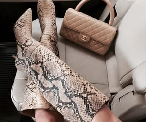 boots, chanel, and bag image