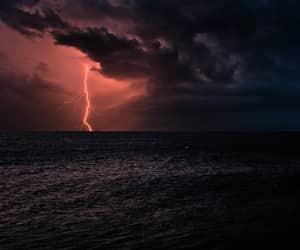 lightning and sea image