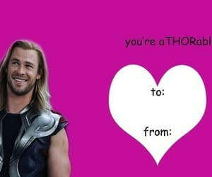 Marvel, thor, and valentine card image