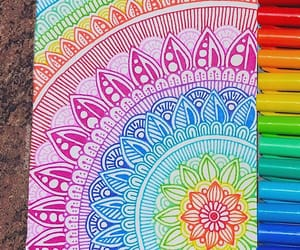 art, colorful, and drawings image