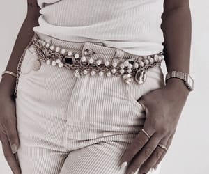 belt, corduroy, and jewelry image
