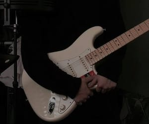 guitar, black, and aesthetic image