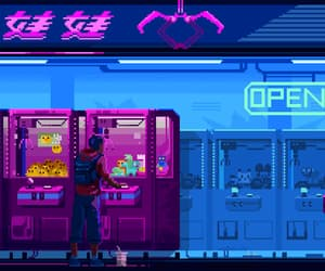 aesthetic, arcade, and gif image