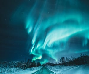 northern lights, snow, and winter image