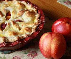 pie, apple, and autumn image