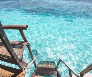 sea, summer, and Maldives image