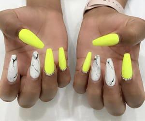 acrylic, marble, and acrylic nails image