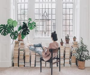 book, books, and brunette image