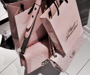 pink, bag, and shopping image