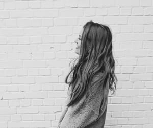bw, hair, and lovely image
