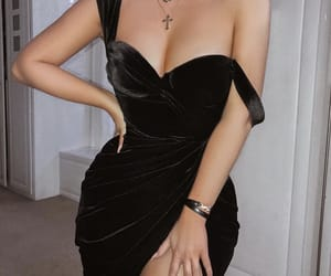 black dress, event, and body goals image