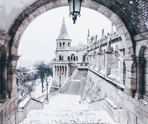 winter, travel, and budapest image