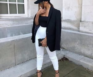 black, blazer, and fashion image