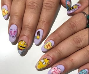nails, beauty, and simpsons image