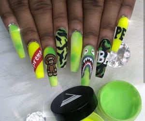 nails, bape, and supreme image