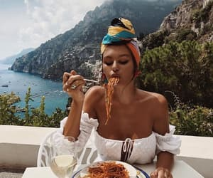 girl, food, and italy image