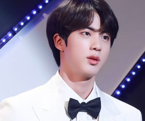 black hair, jin, and bts image