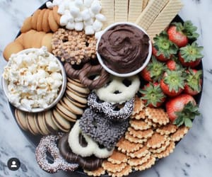 Cookies, food, and fruit image