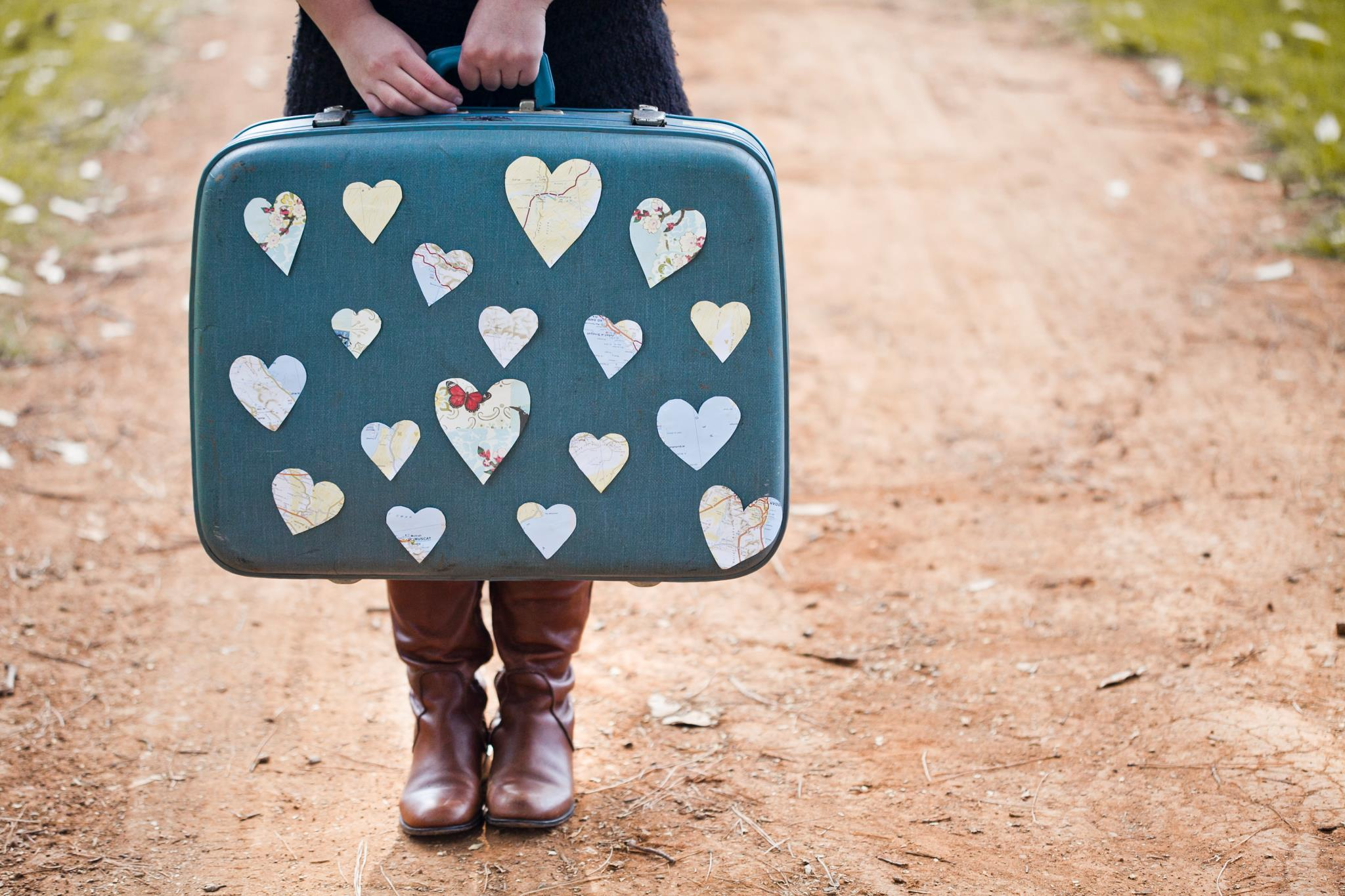 heart, photography, and suitcase image