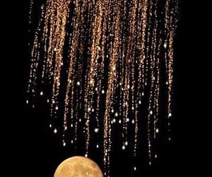 moon, gold, and black image