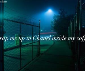 chanel, dark, and grunge image
