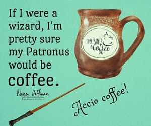 coffee, good morning, and harry potter image