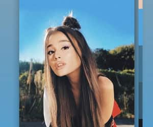 blue, wallpaper, and ariana grande image