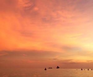 sunrise, sunset, and orange sunset image
