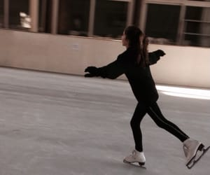 figure skating, ice skate, and ice skating image