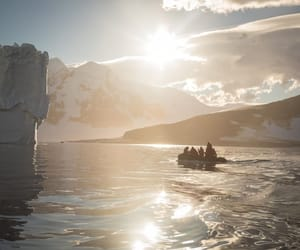 arctic, canoe, and photography image