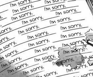 sorry, manga, and sad image